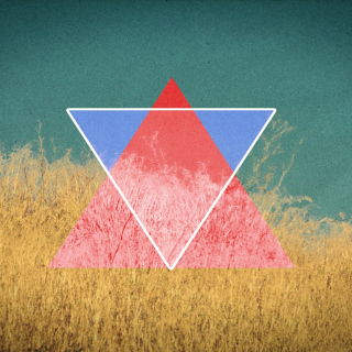 Triangle in Grass Background for LG KP105