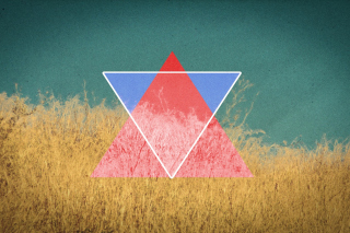 Triangle in Grass Wallpaper for Android, iPhone and iPad