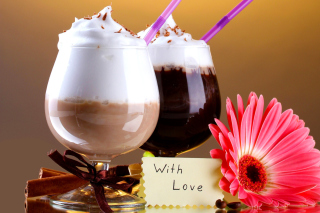 Free Foam Chocolate Drinks Picture for Android, iPhone and iPad