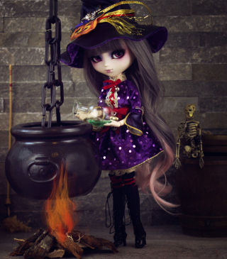 Witch Doll Background for 640x1136