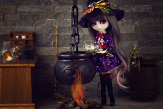 Witch Doll Background for Android, iPhone and iPad