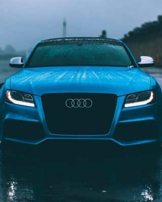 Audi S5 Car in Rain sfondi gratuiti per iPhone 6 Plus