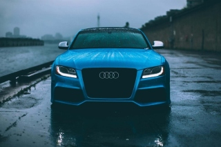 Audi S5 Car in Rain Background for Android, iPhone and iPad