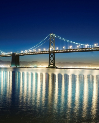 San Francisco Bridge Background for 128x160