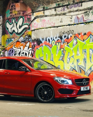 Mercedes CLA 220 Amg Background for 240x320