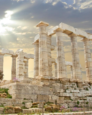 Free Poseidon Temple Sounion Greece Picture for HTC Titan
