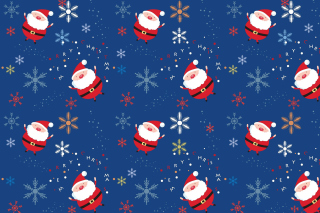 Santa Claus Pattern Background for Desktop 1280x720 HDTV