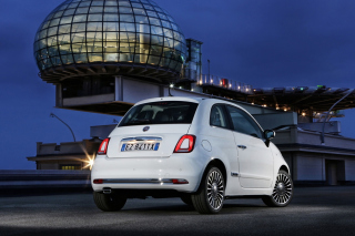 White Fiat 500 2016 Background for Android, iPhone and iPad