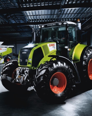 Tractors in garage Background for Nokia C2-02