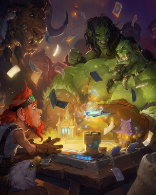 Hearthstone Heroes of Warcraft Wallpaper for Nokia Asha 306