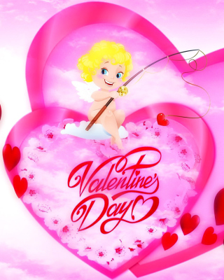 Valentines Day Angel Background for Nokia C1-01