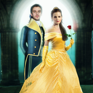 Kostenloses Beauty and the Beast Dan Stevens, Emma Watson Wallpaper für iPad 2