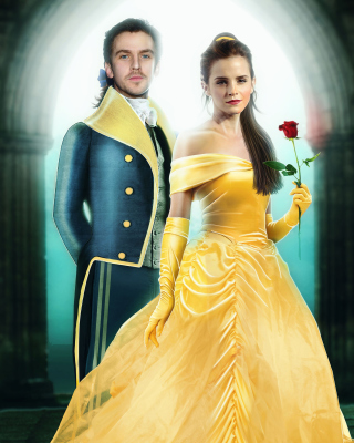 Beauty and the Beast Dan Stevens, Emma Watson Wallpaper for Nokia C1-01