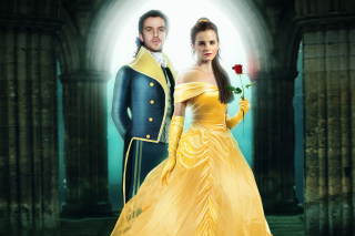 Beauty and the Beast Dan Stevens, Emma Watson sfondi gratuiti per 1024x600