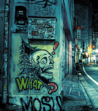 Street Graffiti Background for Nokia Asha 305