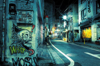 Street Graffiti Wallpaper for Android 1080x960