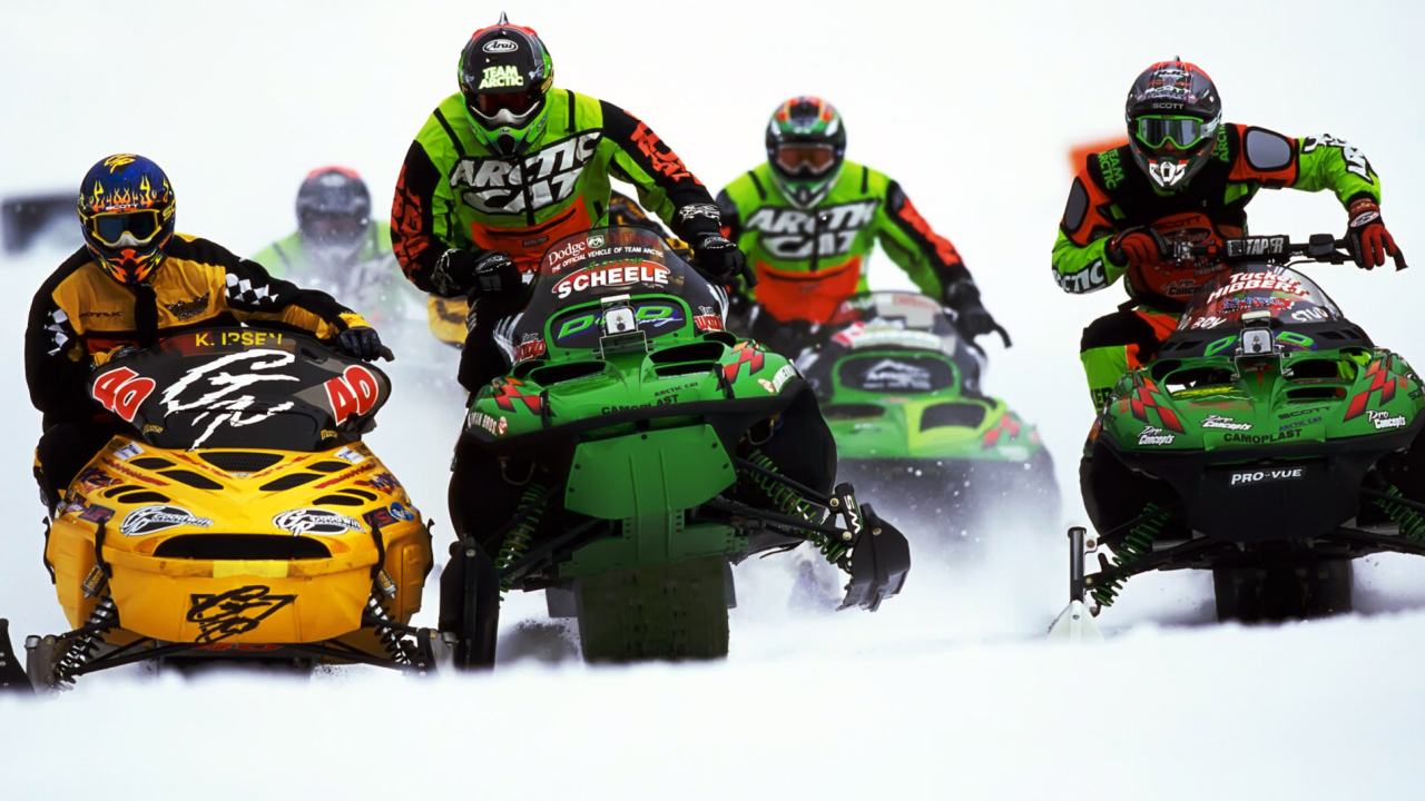 Snowmobile wallpaper 1280x720