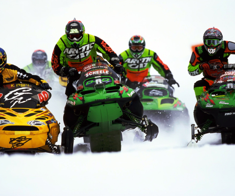 Snowmobile wallpaper 480x400