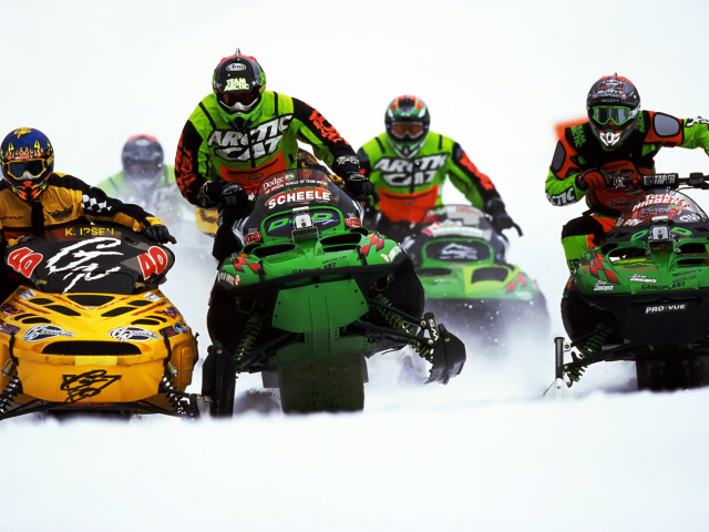 Snowmobile wallpaper 640x480