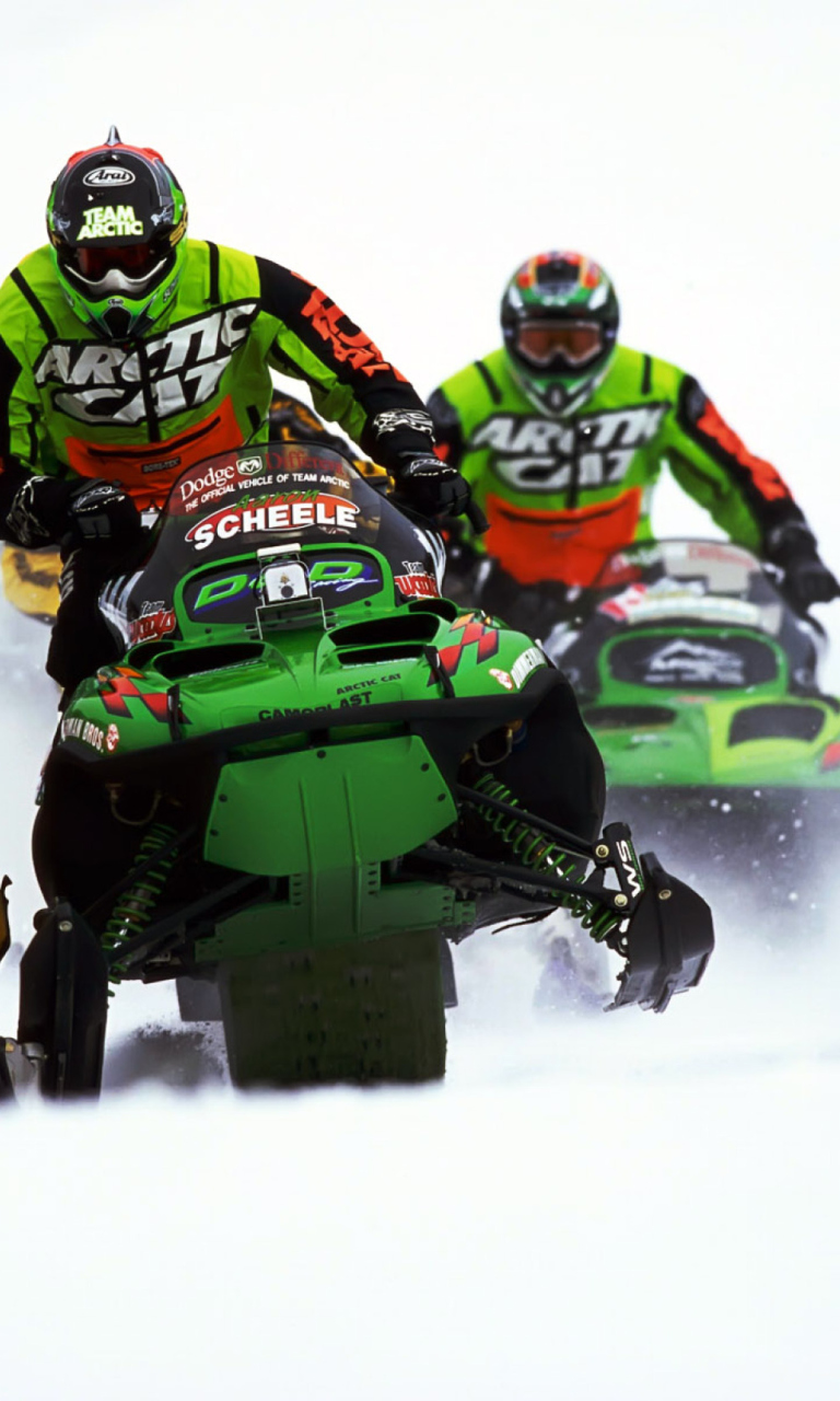 Snowmobile wallpaper 768x1280