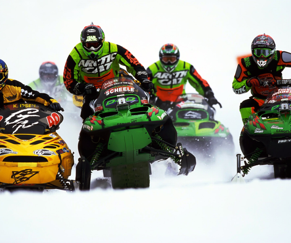 Snowmobile wallpaper 960x800