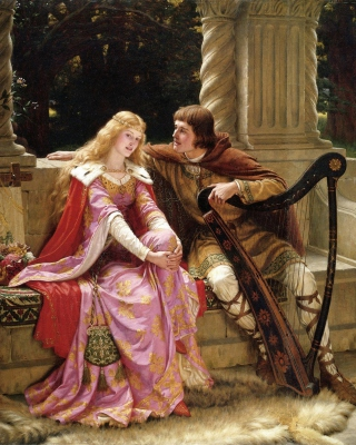 Edmund Leighton Romanticism English Painter Wallpaper for 640x1136