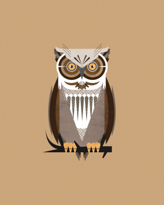 Owl Illustration Wallpaper for HTC Pure