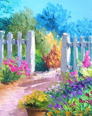 Art Painting Wallpaper for Nokia Asha 311