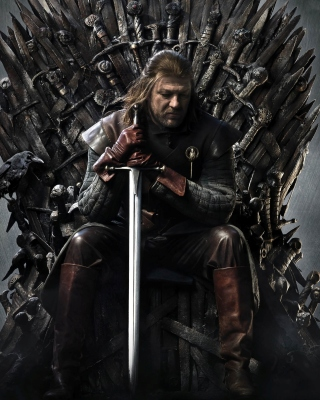 Game Of Thrones A Song of Ice and Fire with Ned Star Background for Nokia Asha 306
