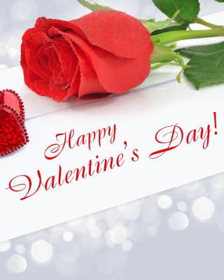 Valentines Day Greetings Card Wallpaper for HTC Titan