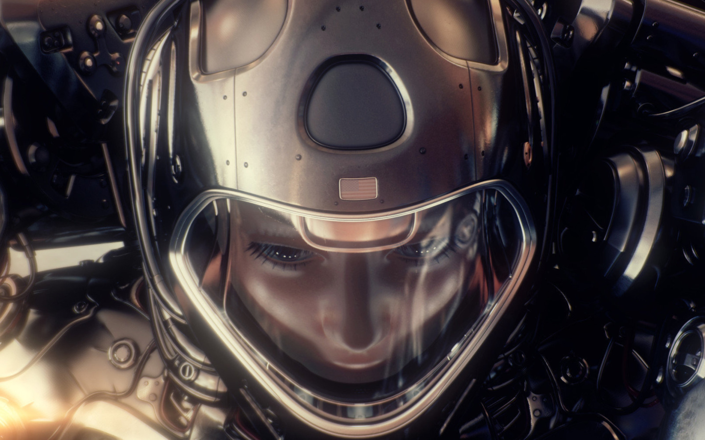Das Astronaut in Space Suit Wallpaper 1440x900
