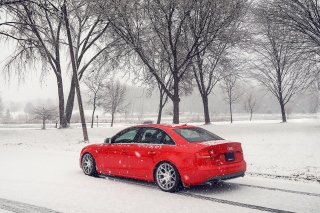 Audi A4 Red Background for Android, iPhone and iPad