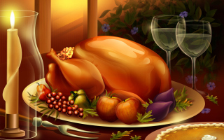 Thanksgiving Feast Picture for Android, iPhone and iPad