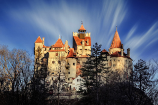 Castle Bran Dracula Background for Android, iPhone and iPad