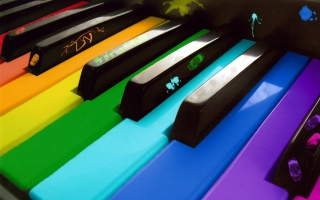 Rainbow Piano Picture for Android, iPhone and iPad