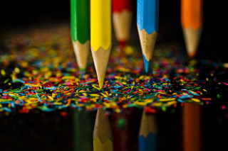 Colored Pencils Background for Desktop 1280x720 HDTV