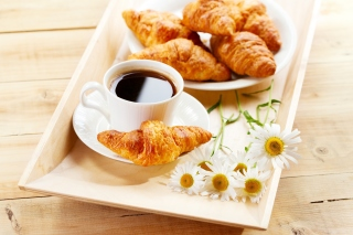Breakfast with Croissants Wallpaper for Android, iPhone and iPad