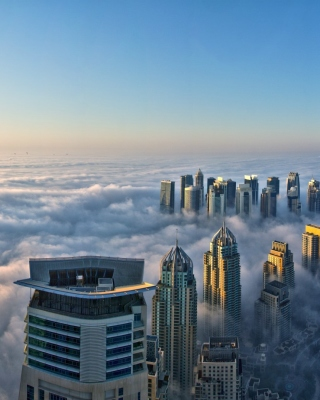 Dubai Observation Deck Wallpaper for Nokia Asha 306