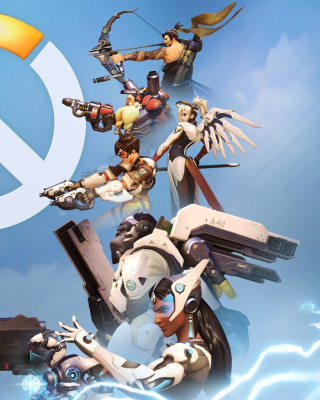Overwatch Shooter Game Background for Nokia Asha 503