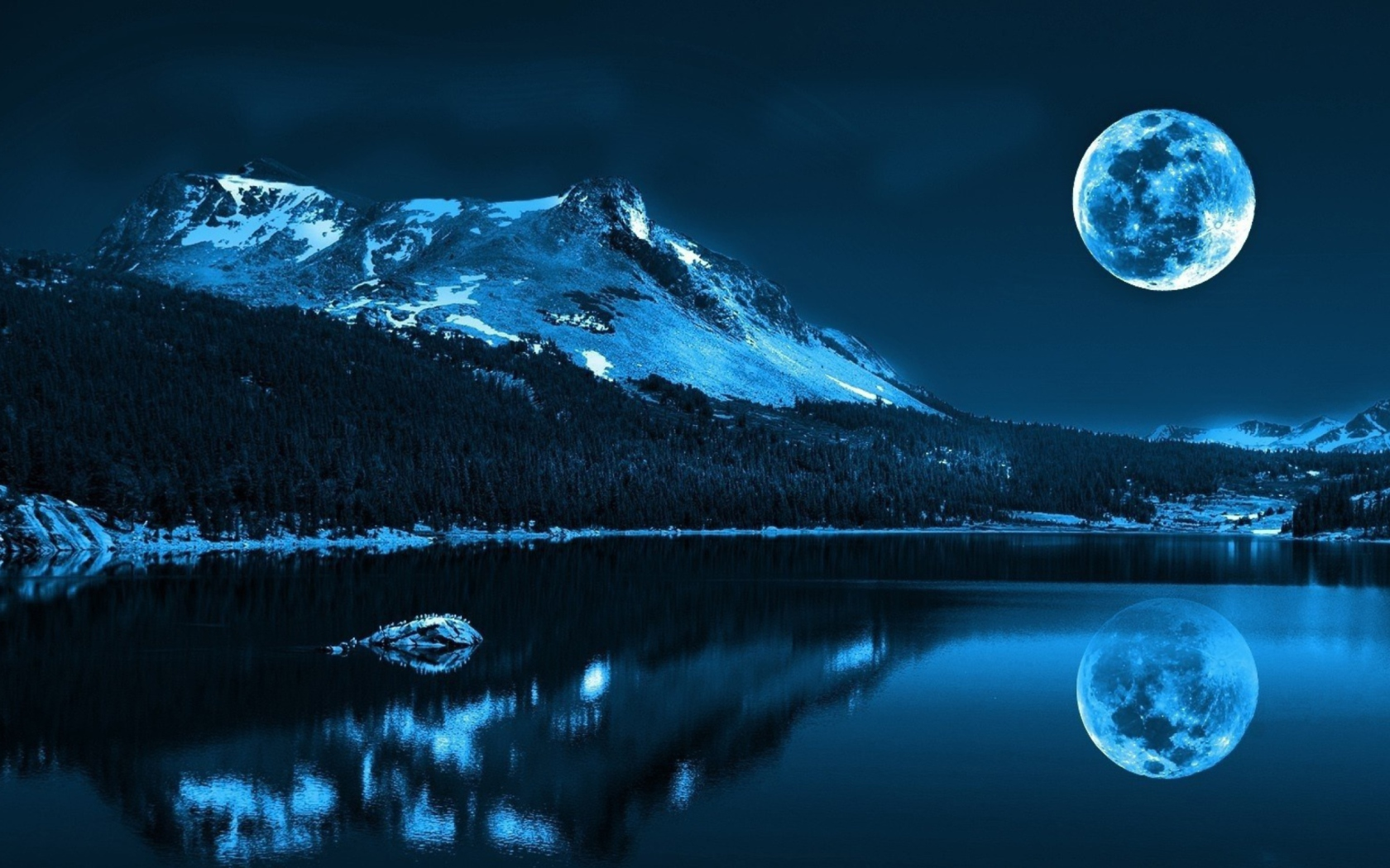 Fondo de pantalla Moonlight Night 1680x1050