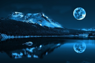 Moonlight Night Background for 1080x960