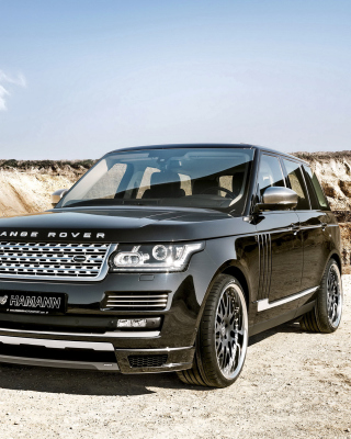 Land Rover Range Rover Black sfondi gratuiti per iPhone 6 Plus