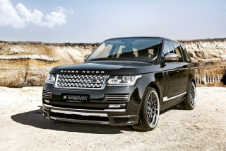 Land Rover Range Rover Black Background for Android, iPhone and iPad