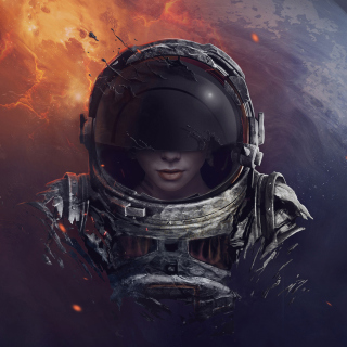 Kostenloses Women in Space Wallpaper für iPad