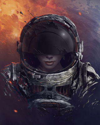 Women in Space Background for iPhone 6 Plus