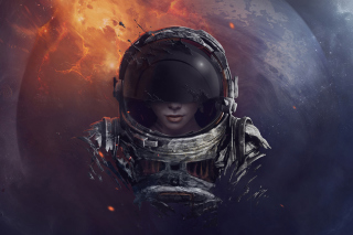 Free Women in Space Picture for Samsung Galaxy Ace 4