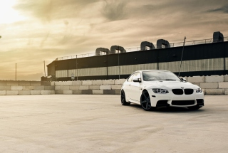 White Bmw Coupe Background for Android, iPhone and iPad