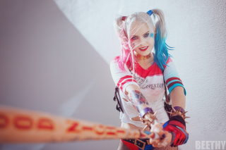 Harley Quinn Cosplay Wallpaper for Android, iPhone and iPad
