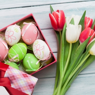 Easter Tulips Decoration Background for 208x208