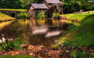 Farm Cottage Wallpaper for Android, iPhone and iPad